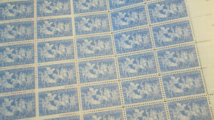 US Discounted Postage 21x sheets 2c to 8c MNH Face $75.64