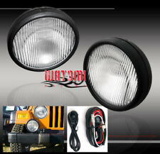 97-06 JEEP WRANGLER BUMPER DRIVING REPLACEMENT FOG LIGHTS LAMPS CHROME W/HARNESS