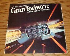 Original 1972 Ford Gran Torino Sales Brochure 72 Sport Wagon Hardtop