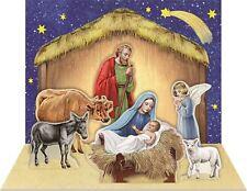 Tarjeta de Navidad Adviento Tradicional En Miniatura Matchbox Pop Up Natividad Escena