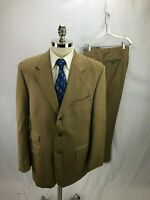 Ralph Lauren Men's Beige Wool Suit 42L 35 x 31
