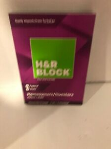 H&R Block Tax Software Deluxe + State 2018 Tax Software