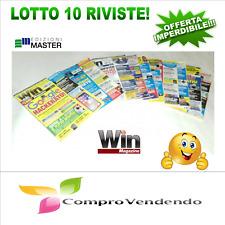 WIN MAGAZINE LOTTO COMPOSTO DA 10 PZ - Offerta Limitata
