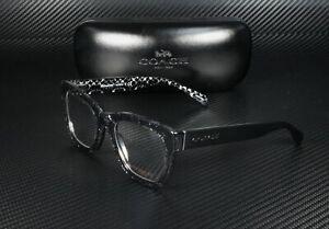 COACH HC6115 5505 Black Chunky GIItter Demo Lens 51 mm Women's Eyeglasses
