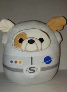 "Squishmallow Brock 8"" Bulldog Astronaut Soft Plush Kellytoy NWT"