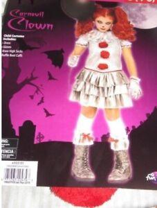 Carnevil Clown It Halloween Costume Filles XL Extra Large 14 15 16