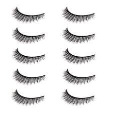 Hot 5 Pairs Luxurious 3D False Eyelashes Cross Natural Long Eye Lashes Makeup C8