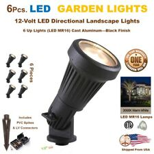 6 PCS LED Landscape Garden Accent Lights Yard Lamp Very Bright 5 Watts Black