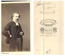 Houssot, peintre CDV vintage albumen carte de visite,  Tirage albuminé  6,5x