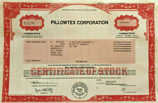 Pillowtex Corporation pillow textile manufacturer stock certificate