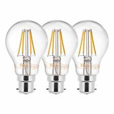 3 x Xq-lite LED Filament Ampoule forme de Poire A60 4w 40w B22 Film Blanc Chaud