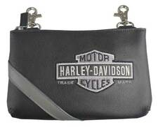 Harley-Davidson Women's Vintage B&S Embroidery Hip Bag w/ Strap VBS6243-GRYBLK