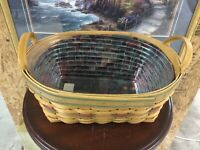 Longaberger 2001 Autumn Reflections Daily Blessings Basket With Liner, Protector