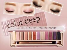 [COLOR DEEP + LABORATORIES] Glam Shine 12 Colors Eyeshadow Palette Set KOREA NEW