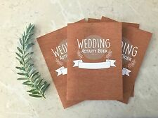 4 Pack- Children's Wedding Activity Book. kids Wedding Colouring favour  x4