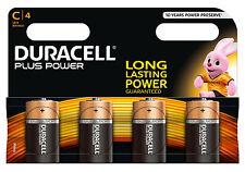 4 X Duracell C Size Plus Power Alkaline Batteries Duralock EX 2026