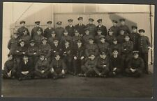 Postcard Royal Naval Air Service RNAS group WW1 aviation Anglesey Wales 1917 RP
