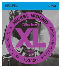 D'Addario EXL120 Electric Guitar Strings 9 - 42 Super Light 3 Four 2 OFFER