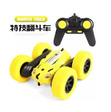 LH-C014 Waterproof Stunt Racing RC Car with 800mAh/ 3.7V Rechargeable - Yellow