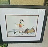 Disney Sericel Framed Goofy Golfer Limited Edition 5000 How To Play Golf 1999