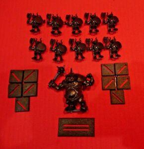 Battle Masters Board Game Chaos Beastmen Ogre Bone Breaker 11 Miniatures 1992