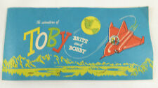 VINTAGE 1970 ADVENTURES OF TOBY BRITE AND BOBBY Booklet~ Lactona ~RARE Dentist