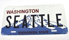 USA Auto Nummernschild License Plate Deko Blechschild Washington Seattle