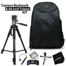Well Padded Camera Backpack + 60 inch Tripod Kit f/ Canon Rebel T6, T6i, T6S, T5