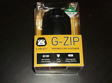 G-ZIP PORTABLE LINE IN SPEAKER NEW IN BOX RECHARGEABLE BATTERY USB G-PROJECT