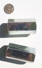 PFC 00238-4000-021 Hex Coupling Nut  NC 1-8 X 1 1/4 X 2 1/2 ZINC BLUE 2 Count