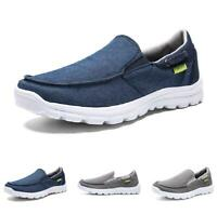 New Mens Comfort Pumps Canvas Loafers Shoes Flats Slip on Breathable Soft Casual