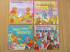 Lot of 4, Berenstain Bears Books Children's Books, Paperback