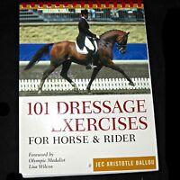 101 Dressage Exercises Tests Horse and Rider Jec Aristotle Ballou Plastic Comb