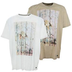 Kitaro T Shirt Herren Kurzarm Rundhals Weiß Sand Baumwolle Plusgröße Übergröße