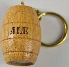 Wooden oak barrel keyring Beer Cider port whisky rum wood gift personalised