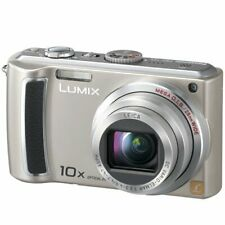 Panasonic Lumix DMC-TZ4 8.1MP Digital Camera - Silver W/ Battery Charger SD