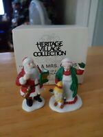 "Dept 56 Heritage Village ""Santa and Mrs Claus"" set of 2 #5509-0"