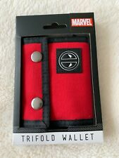 Marvel Deadpool Red Trifold Wallet by Bioworld Brand New