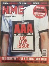 NME New Musical Express 28/10/00 The Live Issue, Coldplay, Eminem, Limp Bizkit