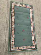 Small green patterned rug LSE319321C