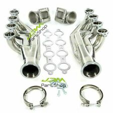 """Turbo Exhaust Manifold Headers Ls1 Ls6 Lsx Gm V8+Elbows T3 T4 to 3.0"""" V Band"""