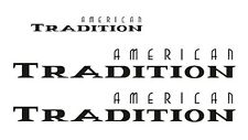 FLEETWOOD AMERICAN TRADITION RV TRAILER TRUCK DECALS STICKERS BUS US1