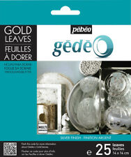 PEBEO GEDEO GILDING FOIL LEAVES 25 SHEETS Silver