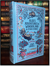 Alice in Wonderland by Lewis Carroll New Sealed Blue Leather Bound Gift Hardback
