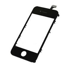 VETRO+TOUCH SCREEN per APPLE IPHONE 4 4G DISPLAY+FRAME Cover NERO TELAIO CHASSIS