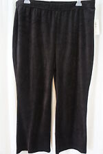 Style&co. Woman Sport Velour Pants Sz 1X Ebony Black Casual Pant
