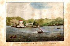 Stampa antica ISOLA MADRE sul Lago Maggiore 1821 Old print