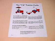 "Allis Chalmers ""CA"" & ""D"" Pedal Tractor Color Specs"
