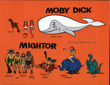 Hanna Barbera STYLE GUIDE PLATE - MOBY DICK & MIGHTOR MODEL SHEET