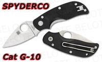 Spyderco Cat G-10 Handle Folder Plain Edge C129GP *NEW*